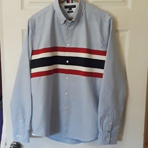 NWT Tommy Hilfiger Sz L Slim Fit Long sleeve